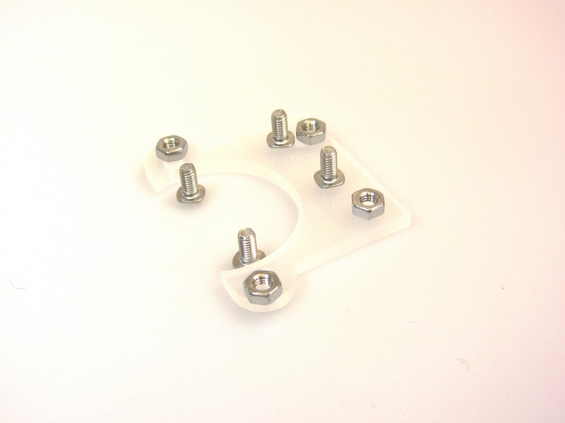 MakerBeam Mikro-Schrittmotor Halterung (flach)