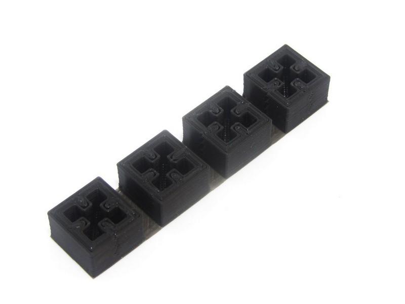 3D gedruckte Endkappen, 4 Stück