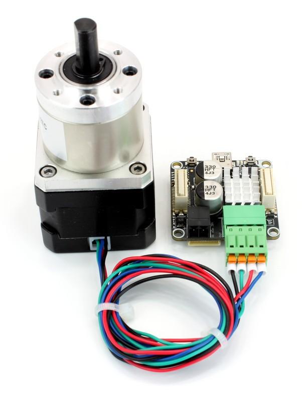 Schrittmotor mit Getriebe 27:1, 3Nm