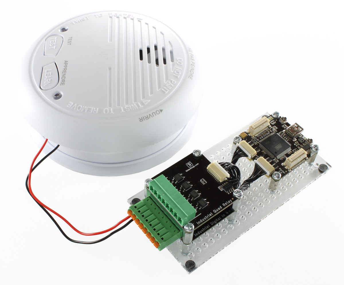 Doc Tinkerforge Smoke Sensor Circuit Detector Opened With Soldered Wires To Led Connected Industrial Digital In 4 Bricklet