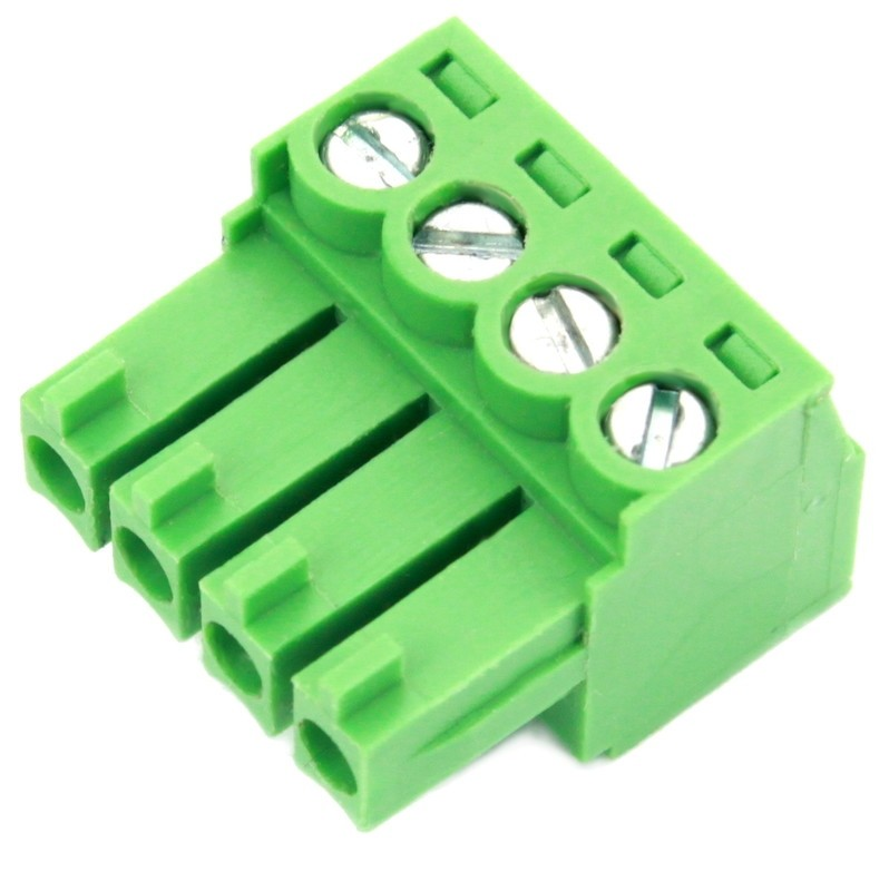 4 Pole Green Connector (Screw Clamp)