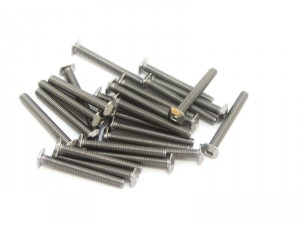 M3 Square Headed Bolts with Hex Hole, 25mm, 25pcs