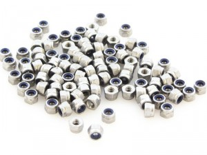 M3 Self Locking Nuts, 100pcs
