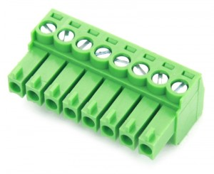 8 Pole Green Connector (Screw Clamp)